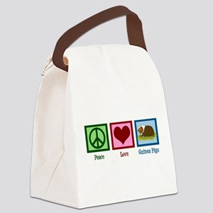 Peace Love Guinea Pigs Canvas Lunch Bag