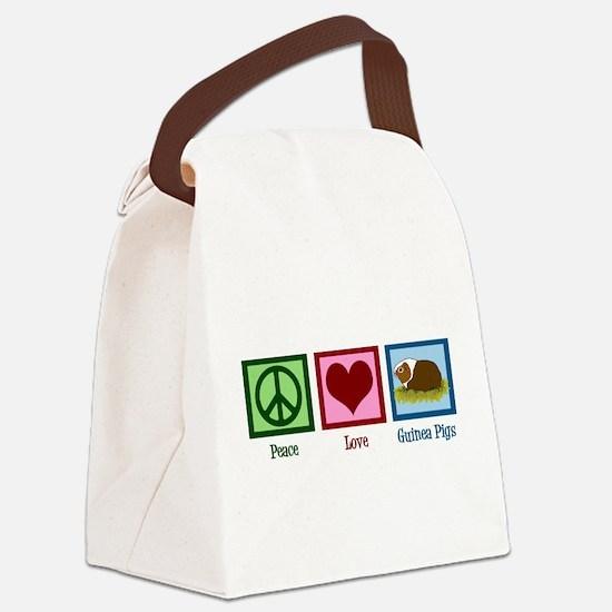 Peace Love Guinea Pigs Canvas Lunch Bag