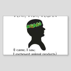 Veni Vidi Vegan Rectangle Sticker