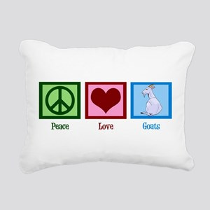 Peace Love Goats Rectangular Canvas Pillow