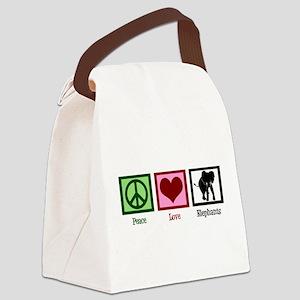 Peace Love Elephants Canvas Lunch Bag