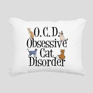 Obsessive Cat Disorder Rectangular Canvas Pillow