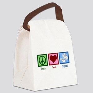 Peace Love Origami Canvas Lunch Bag