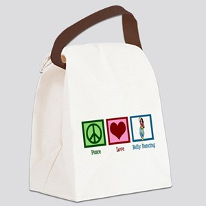 Peace Love Belly Dancing Canvas Lunch Bag