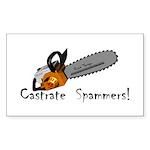 castrate_spam_5x2 Sticker (Rectangle 50 pk)