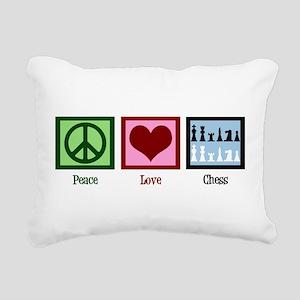 Peace Love Chess Rectangular Canvas Pillow