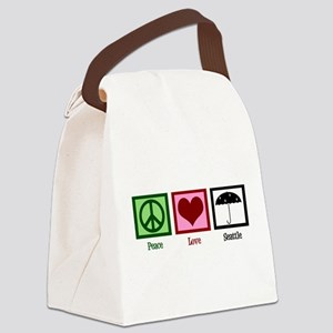 Peace Love Seattle Canvas Lunch Bag
