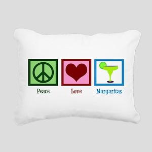 Peace Love Margaritas Rectangular Canvas Pillow