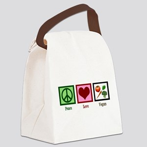 Peace Love Vegan Canvas Lunch Bag