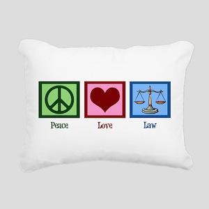 Peace Love Law Rectangular Canvas Pillow