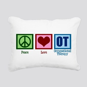 Peace Love OT Rectangular Canvas Pillow