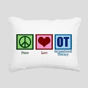 Peace Love OT Rectangular Canvas Pillow