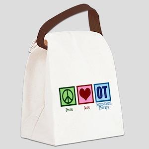 Peace Love OT Canvas Lunch Bag