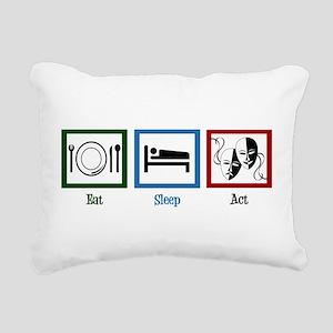 Eat Sleep Act Rectangular Canvas Pillow
