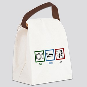 Eat Sleep Act Canvas Lunch Bag