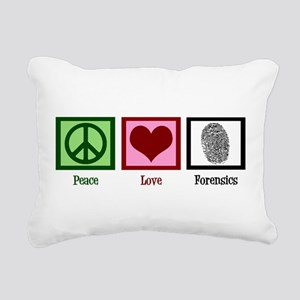 Peace Love Forensics Rectangular Canvas Pillow