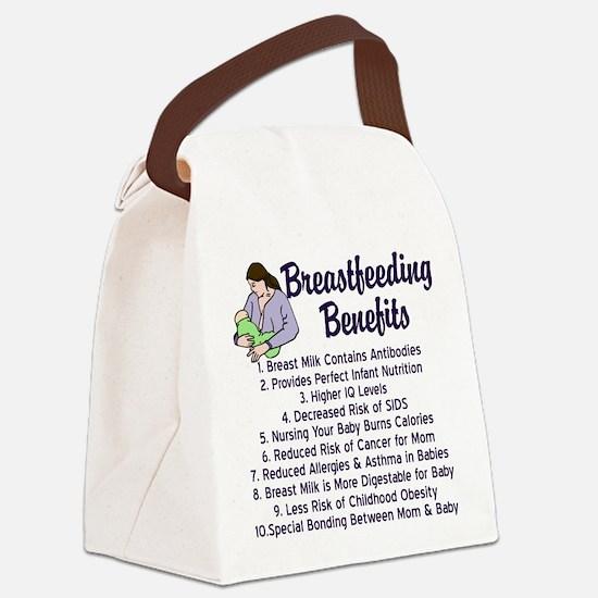 Breastfeeding Benefits Canvas Lunch Bag
