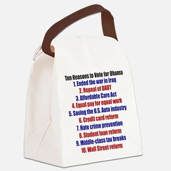 Obama's Accomplishments Canvas Lunch Bag