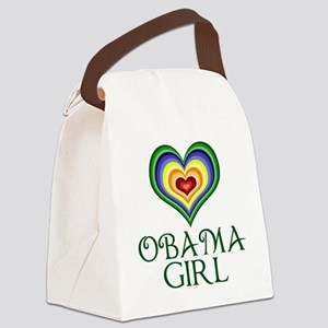 Obama Girl Canvas Lunch Bag
