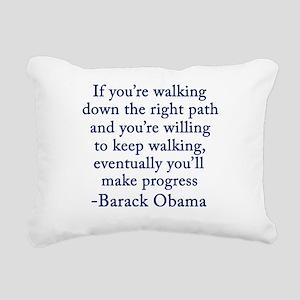 Progressive Obama Rectangular Canvas Pillow