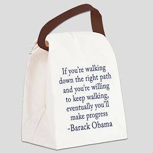 Progressive Obama Canvas Lunch Bag
