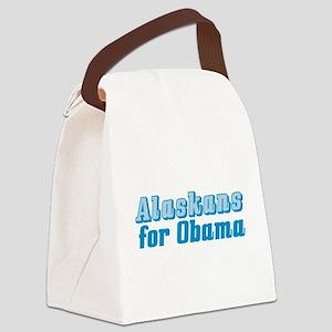 Alaskans for Obama Canvas Lunch Bag