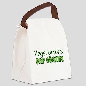 Vegetarians for Obama Canvas Lunch Bag
