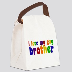 I Love My Gay Brother Canvas Lunch Bag