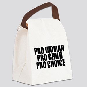 Pro Woman Child Choice Canvas Lunch Bag