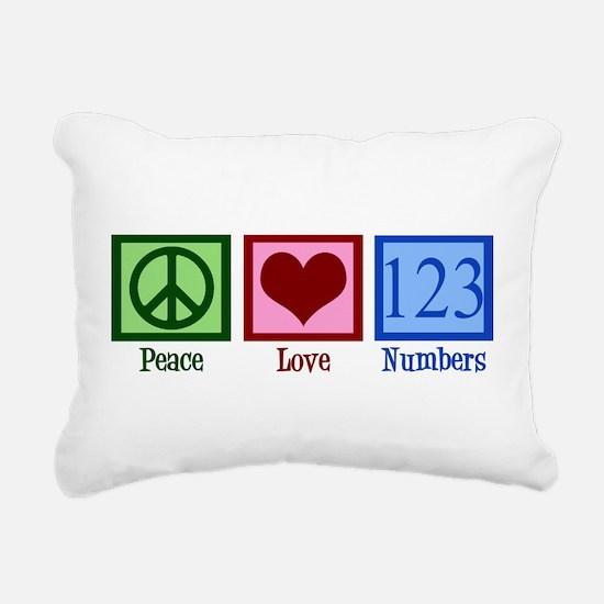 Peace Love Numbers Rectangular Canvas Pillow
