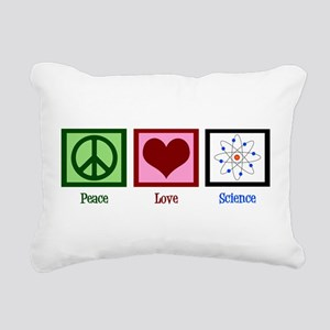 Peace Love Science Rectangular Canvas Pillow