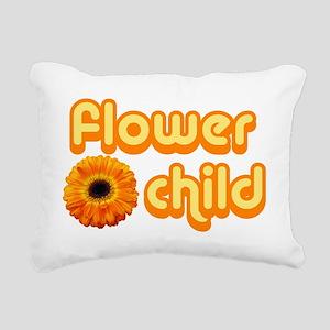 Flower Child Rectangular Canvas Pillow