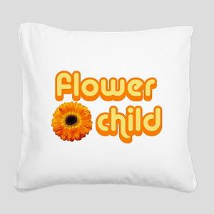 Flower Child Square Canvas Pillow