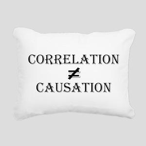 Correlation Causation Rectangular Canvas Pillow