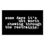 restraints.oval.sticker Sticker (Rectangle 50 pk)