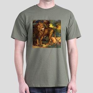 Vintage Lion Painting Dark T-Shirt