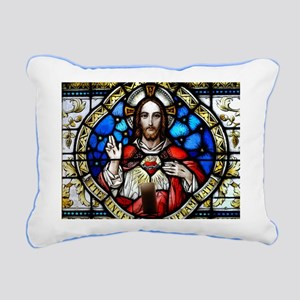 Sacred Heart Rectangular Canvas Pillow