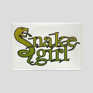 Snake Girl Rectangle Magnet