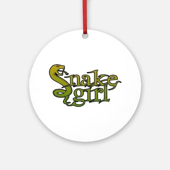 Snake Girl Ornament (Round)