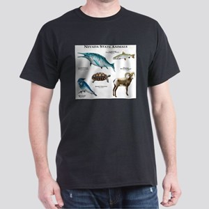 Nevada State Animals Dark T-Shirt