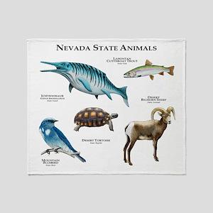 Nevada State Animals Throw Blanket