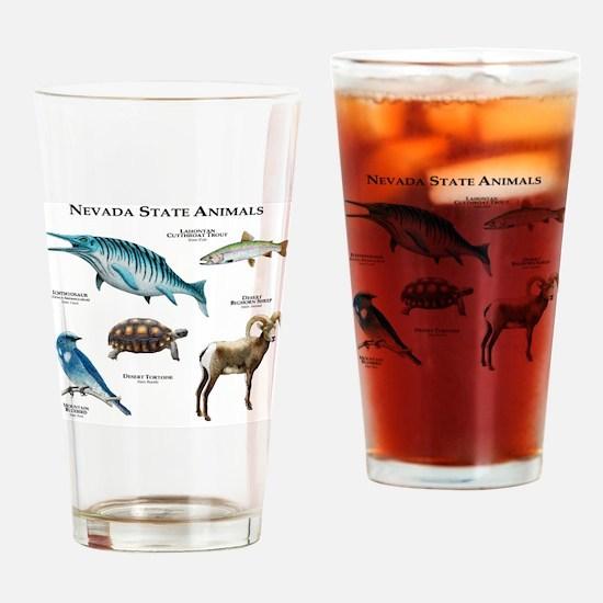 Nevada State Animals Drinking Glass
