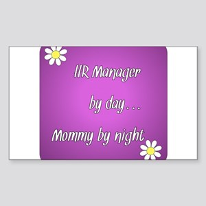 HR Manager by day Mommy by night Sticker (Rectangl
