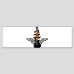 e-guitar rock wings Sticker (Bumper)