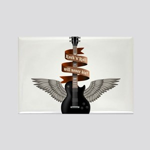 e-guitar rock wings Rectangle Magnet