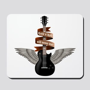 e-guitar rock wings Mousepad