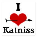 I Heart Katniss Square Car Magnet 3