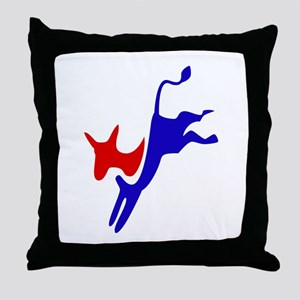 Democratic Party Donkey (Jackass) Throw Pillow