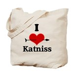 I Heart Katniss Tote Bag