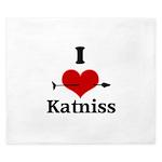 I Heart Katniss King Duvet